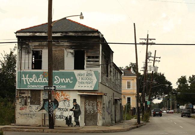 Steve Bransford, Lincoln graffiti, New Orleans, Louisiana, 2010.