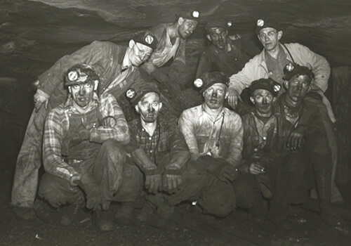 Photographer unknown, Unidentified miners from southwest Virginia, 1930s. Courtesy of the Library of Virginia.