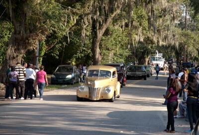 Nancy Marshall and John McWilliams, Homecoming parade, McClellanville, South Carolina, 2010.