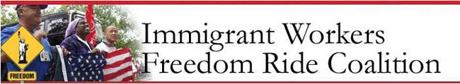Banner from the Immigrant Workers Freedom Ride website, 2003.