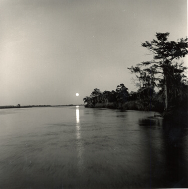 Nancy Marshall, Moon over Darien River, Georgia, 2010.
