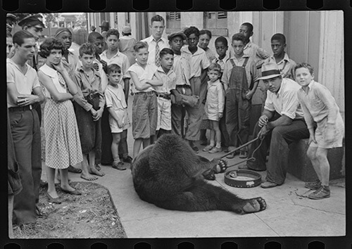 Ben Shahn, Street scene, New Orleans, Louisiana, October 1935. Library of Congress Prints and Photographs Division, FSA/OWI Black-and-White Negatives Collection, LC-USF33-006097-M3.