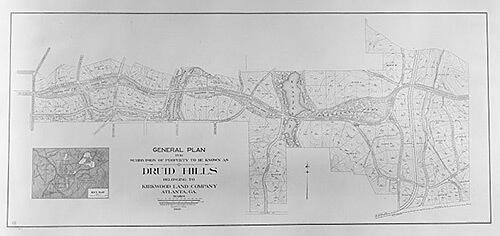 Sam Fowler, General plan Druid Hills historic district, US 29, Atlanta, Georgia, 1987. Library of Congress, Historic American Buildings Survey HABS GA-2390-6.