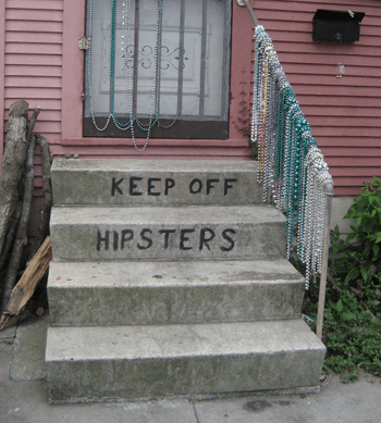 Infrogmation, Photo of the front steps of a Bywater home, 2008.