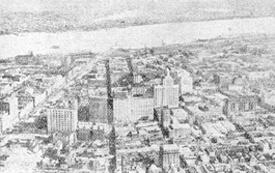 Yoshio Koya, Photograph of the Mississippi River and New Orleans, in Tengoku Amerika, Jigoku Amerika, 68.