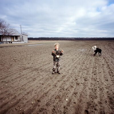 Little Steele in the Cornfield, Mississippi, photograph by Kathleen Robbins © 2006. See more at the Jennifer Schwartz Gallery.