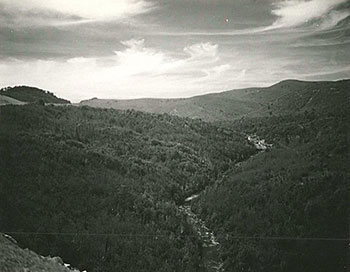 Robert E. Howe, #7, Yellowstone Falls and Headwaters of the East Fork of the Pigeon River, Section 2V of the Blue Ridge Parkway, 1955.