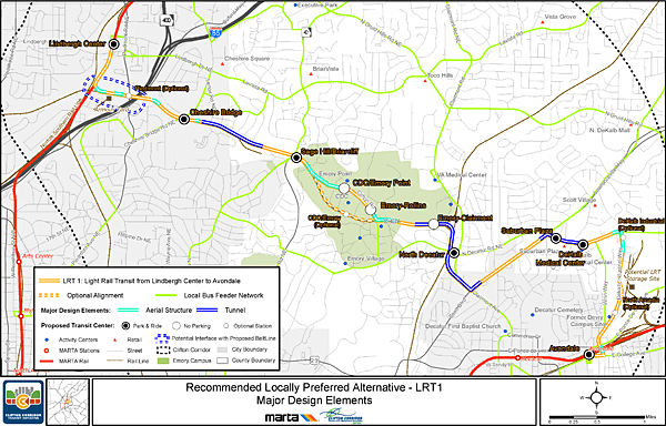 """Clifton Corridor LPA-LRT 1,"" recommended locally preferred alternative, Clifton Corridor Transit Initiative."
