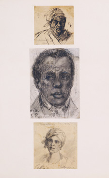 """David Hunter Strother, Sketches of """"contrabands,"""" enslaved African Americans who crossed into the federal lines, 1862. Courtesy of the Library of Virginia."""
