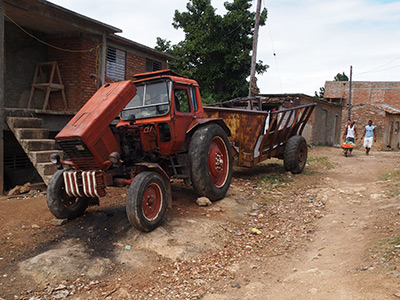 Charles D. Thompson, Jr., Russian Belarus tractor from the Soviet period, Trinidad, Cuba, 2010.