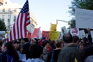 Robert Carpenter, Tax day Tea Party protest, Atlanta, Georgia, April 15, 2009.