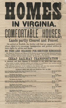 Homes Broadside, 1873. Courtesy of the Library of Virginia.