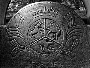 Daniel W. Patterson (photographer), The Reverend William Richardson headstone (1771), Waxhaw Presbyterian Church, Lancaster County, South Carolina. Gravestone attributed to the Bigham workshop.