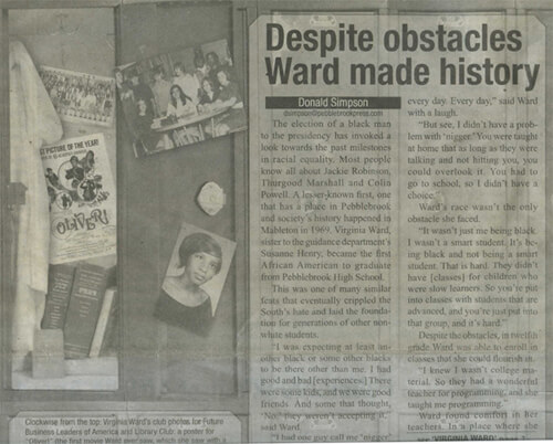 Article from Pebblebrook High's BrookSpeak, March 2009.