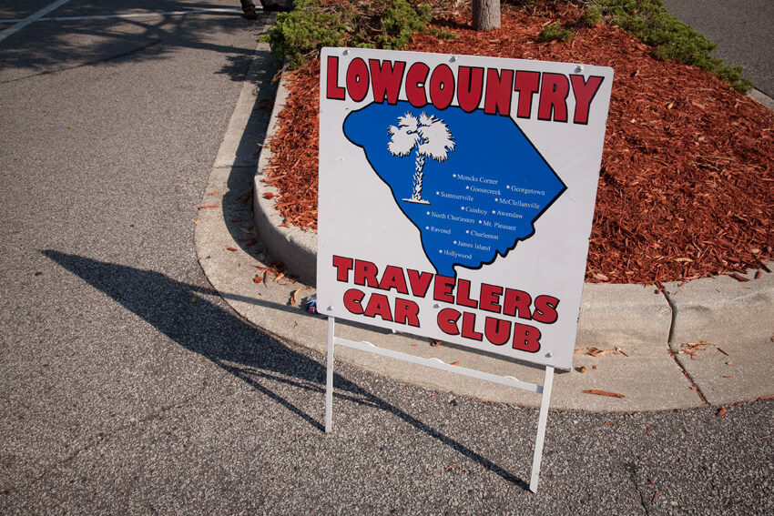 Nancy Marshall and John McWilliams, Low Country Travelers sign, Mount Pleasant, South Carolina, 2010.