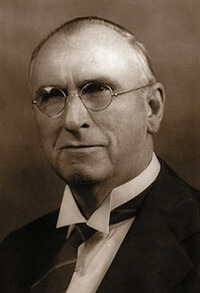"""James David Vaughn (1864–1941). Often described as Southern Gospel's true founder and patron saint, Harrison depicts Vaughn as a """"transitional"""" figure."""