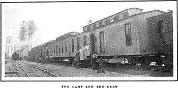 "Box car quarters at a Jackson Company camp, outside Lockhart, Alabama. Alexander Irvine, ""My Life in Peonage,"" Appleton's Magazine, July 1907, 3."