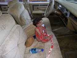 Ellen Schattschneider, Doll representing the fetus of Dorothy Dorsey, Moore's Ford, Georgia, 2009.
