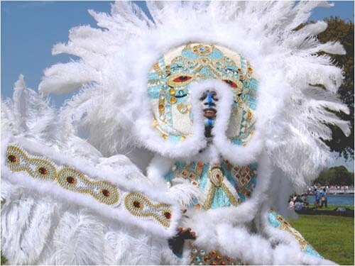Nick Spitzer, Mardi Gras Indian, New Orleans, Louisiana.