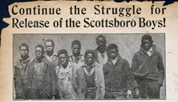 Daily Worker, Scottsboro headline, 1932. Courtesy of Emory University's Manuscript, Archives, and Rare Book Library.
