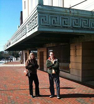 John Lane, Betsy Teter and Gary Henderson outside the Hub City Bookshop, Spartanburg, South Carolina, 2010.