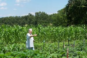 Brenda Smyth, Willodean in her garden, Searcy County, Arkansas, July 2009.