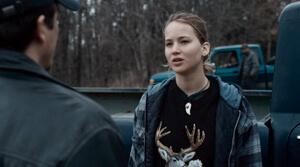 Ree in deer head sweatshirt, Winter's Bone, 2010.
