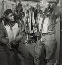 Toni Frissell, Members of the 332nd Fighter Group in Ramitelli, Italy, March 1945. Courtesy of the Library of Congress.