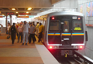 Wesley Fryer, Passengers exit a MARTA train, Atlanta, Georgia, June 26, 2007.