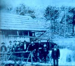 Photographer unknown, Avery Brothers' grandfather's water-powered gristmill on Big Springs, Stone County, Arkansas, circa 1900. Courtesy of University of Central Arkansas Archives, Rackensack Collection.