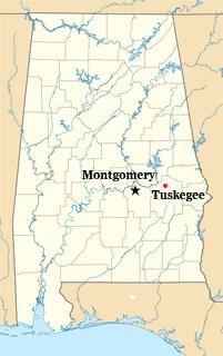 Map of Tuskegee, Alabama