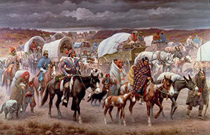Robert Lindeux, The Trail of Tears, 1942, in the Woolaroc Museum, Bartlesville, Oklahoma, from the Granger Collection.