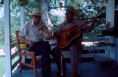 Vaughn Brewer, Lonnie and Asburn Avery, Stone County, Arkansas, September 6, 1979.  Courtesy of University of Central Arkansas Archives, Rackensack Collection.