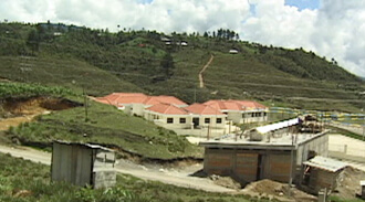 William Brown and Mary Odem, New building in a Guatemalan community.