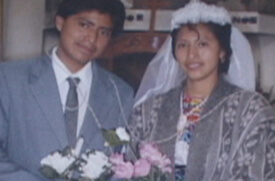 William Brown and Mary Odem, Alfredo and Juana on their wedding, Guatemala.