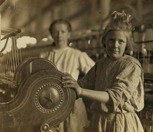 Lewis Hine, A typical spinner, Lancaster Cotton Mills, Lancaster, South Carolina, 1908. Courtesy of the Library of Congress, National Child Labor Committee Collection.