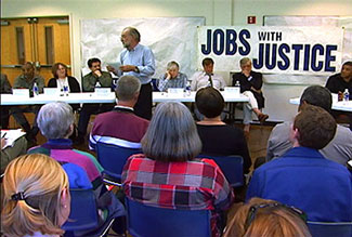 Worker Rights Board Hearing Organized by Jobs with Justice of East Tennessee, from Morristown: in the air and sun (2007).