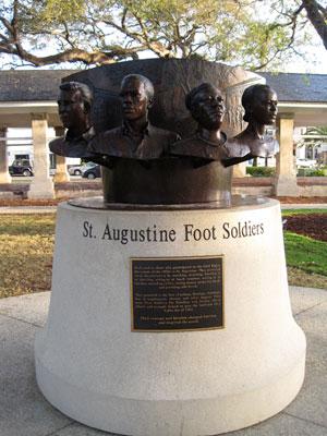 Figure 35. Holly Goldstein, St. Augustine Foot Soldiers Monument, Plaza de la Constitución, St. Augustine, Florida, 2012.