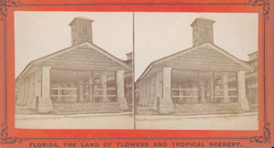 Figure 44. The Market House of St. Augustine, Florida, Formerly Used as a Slave Market, c. 1886. Stereograph from the collection: Florida: The Land of Flowers and Tropical Scenery. Courtesy of the State Archives of Florida.