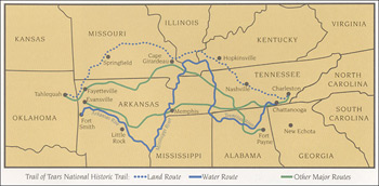 National Park Service, Cherokee removal routes, Trail of Tears National Historic Trail.