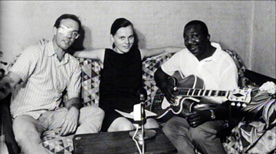 Steve Seaberg, Ronnog Seaberg, and J.B. Lenoir in the 1965 footage. The Soul of a Man, 2003.