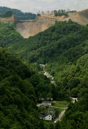 Earl Dotter, Mountaintop removal mine site above McRoberts, Kentucky, 2005.