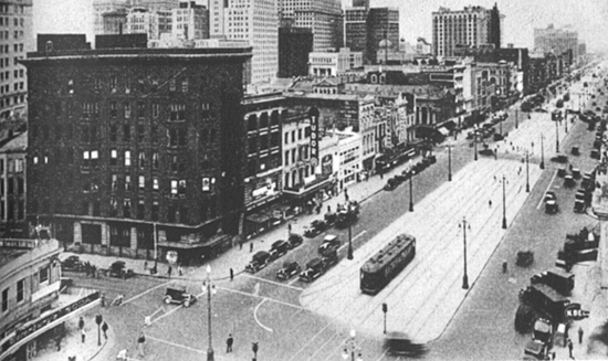 Canal Street, Separating the Old from the New City, from the WPA Guide to New Orleans.