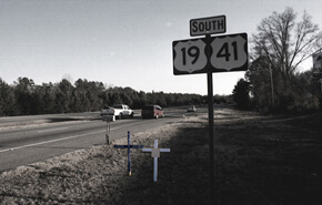 Tom Zarilli, Highway 19 and 41, central Georgia, 2004.