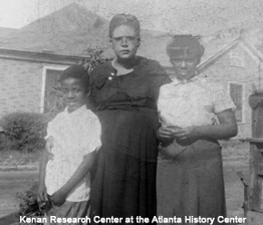 Photographer unknown, Freddie Styles (left) with his family in Atlanta, Georgia's Summerhill neighborhood, 1953. Courtesy of the Kenan Research Center at the Atlanta History Center