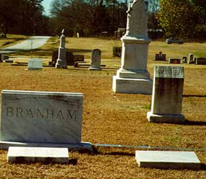 Mark Auslander, The white section of the Oxford City Cemetery, Oxford, Georgia, 2000.