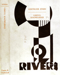 Dust jacket of Stein's Useful Knowledge, 1928