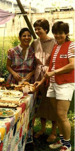 Photographer unknown, former owner Sherry Emory, founder Linda Bryant, and volunteer Liz Hill, Atlanta, Georgia, 1979.