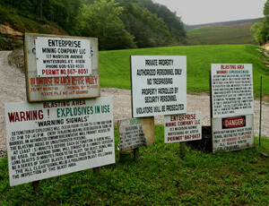 Earl Dotter, Oldhouse Branch Refuse Valley Fill Impoundment, Enterprise Mining Company, Letcher County, Kentucky, 2005.