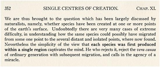 Excerpt from Charles Darwin's On the Origin of Species, 1859.